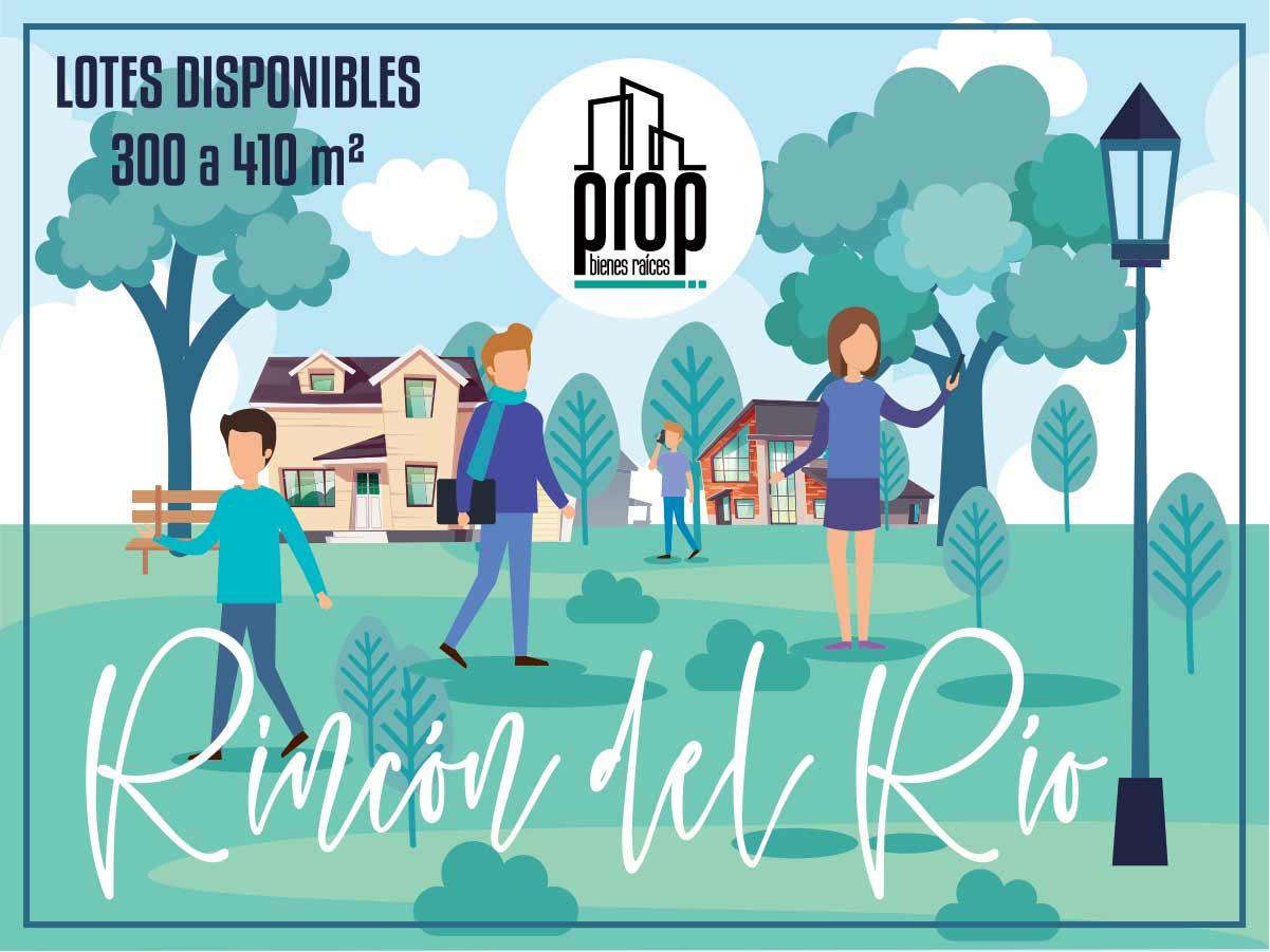 Terrenos en Rincón del Río, 60 ubicaciones, desde 300 m2.