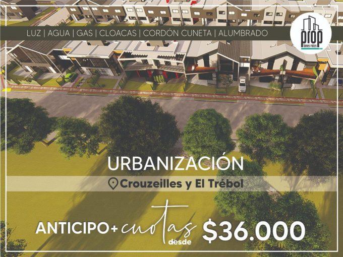 Lote en venta de 200m2 ubicado en Crouzeilles y El Trebol